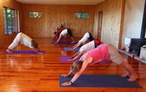 Yoga class at Shambhala